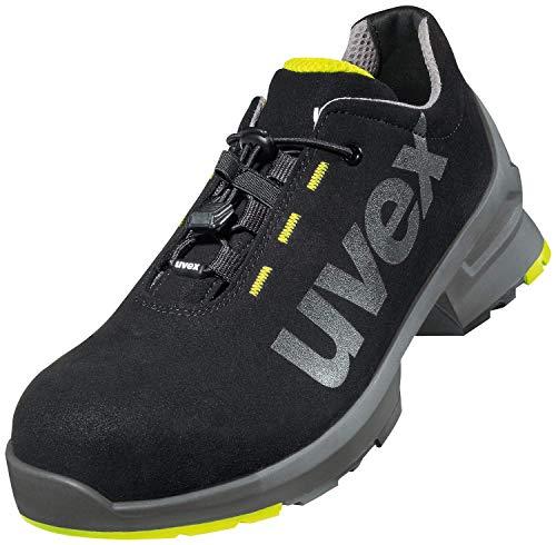Uvex 1 Zapato Profesional de Seguridad S2 SRC | Zapatilla Deportiva de Trabajo | Punta Antiaplastamiento de Composite | Negro