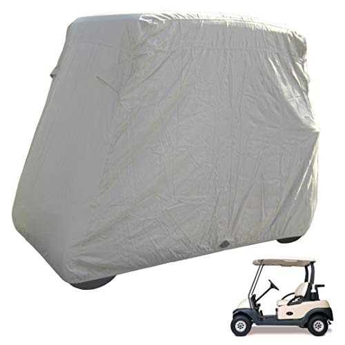 Deluxe 2 Seater Golf Cart Cover in Taupe, roof up to 58', Fits E Z GO, Club Car and Yamaha G Mode, Also fits Organic transit's ELF