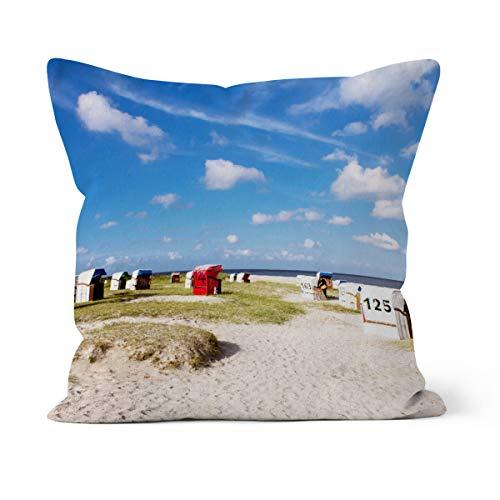 fotobar!style Motivkissen 50 x 50 cm mit Füllung Strand von Schillig