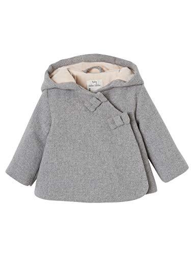Vertbaudet Winterjacke für Baby Mädchen, Kapuze hellgrau 80
