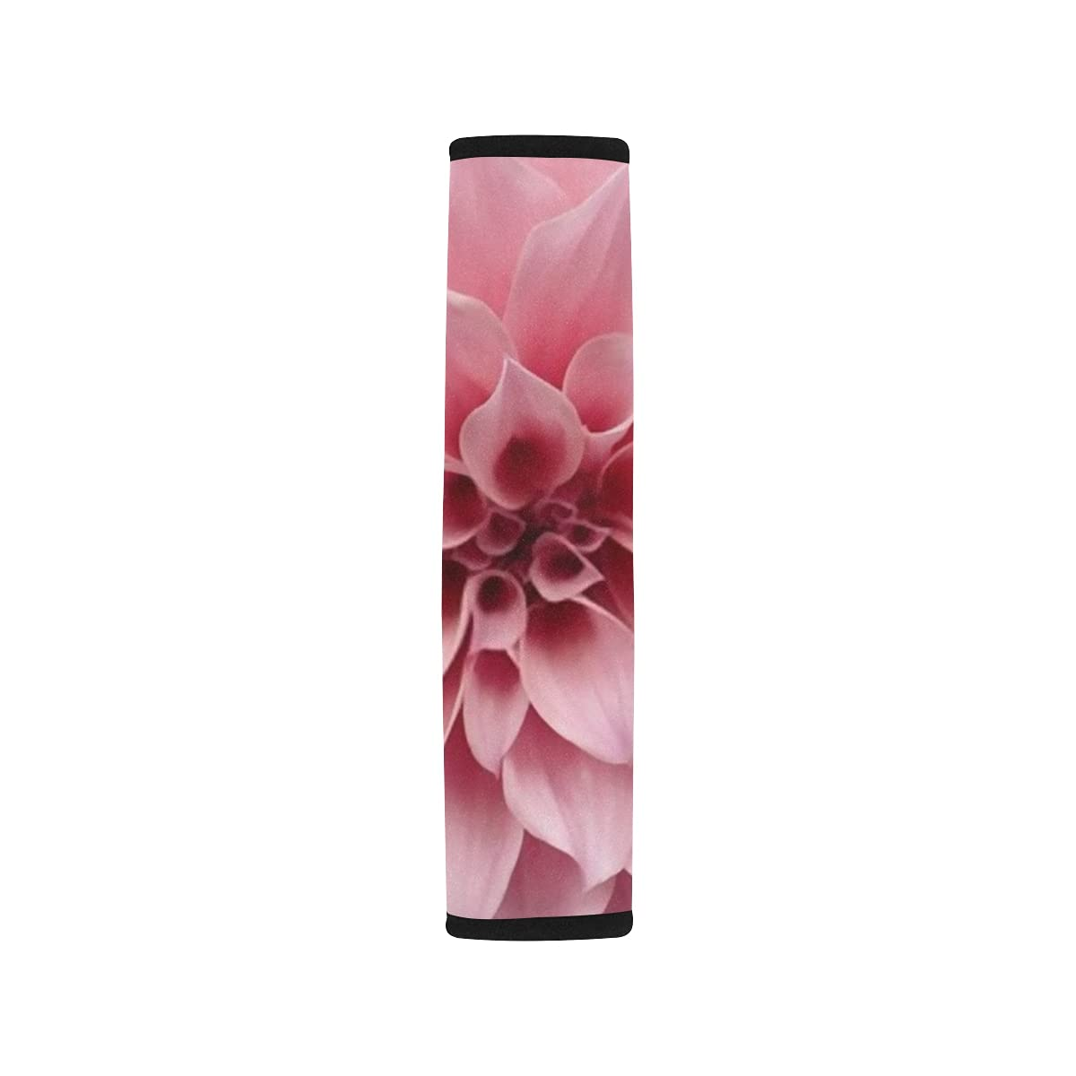 2pcs Car Seat Belt Cover Beautiful Shou Dahlia Flower Pink Close Brand new Challenge the lowest price of Japan