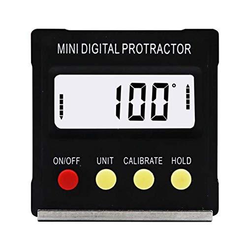 360-Grad-Schwarz-Mini-Digital-Winkelmesser-Neigungsmesser, elektronisches Wasserwaagen-Messgerät für Möbel, Autotests und Reparaturen