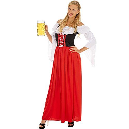 dressforfun Costume da Donna - Festdirndl Resi | Grazioso Dirndl | Camicetta Cucita con Un'allacciatura Anteriore (XL | No. 301078)
