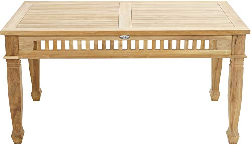 Ploß Ploß 1044590 Gartentisch rechteckig Teak Verzierungen Handarbeit