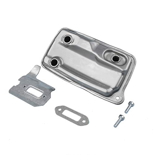 AUMEL 4238-140-0611 Exhaust Muffler Assembly for STIHL TS410 TS420 Cut Off Saw w/Gasket