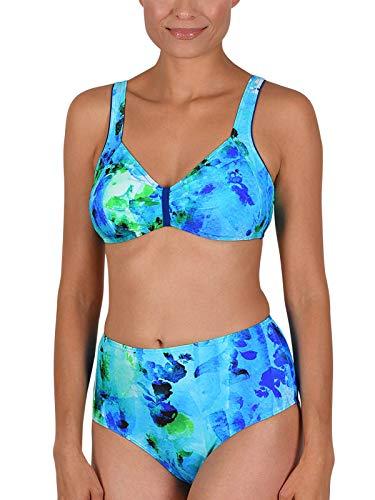 Naturana Bikini ohne Bügel 72581 Gr. 44 B in royal-blau-grün