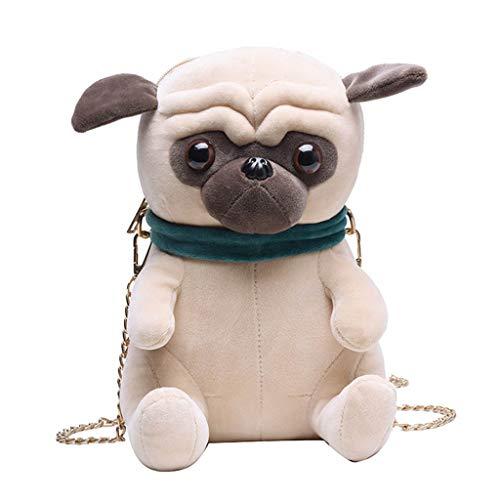 WDFVGEE - Mochila de felpa con forma de perro para mujer, con forma de perro