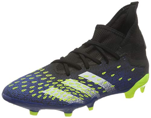 adidas Predator Freak .3 FG, Scarpe da Calcio Uomo, Core Black/Ftwr White/Solar Yellow, 42 2/3 EU