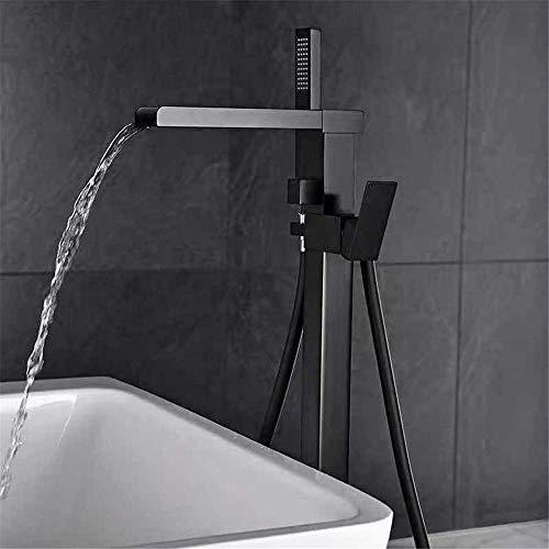 MTYLX Sistemas de Ducha de Baño con Grifo de Agua Grifo de Bañera Mate, Cascada Cuadrada Soporte de Baño Soporte de Grifo Mezclador de Ducha Baño Mezclador de Baño