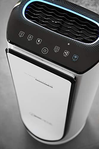 Rowenta Purificateur d'Air Intense Pure Air Connect, Silencieux, Connecté, 4 Niveaux de Filtration, Traitement des Allergènes et Particules Fines PU4080F0