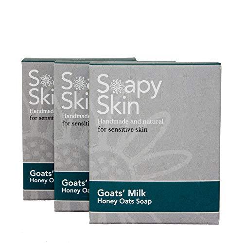 MULTI AWARD WINNING - Goats Milk Oats Soap - Eczema Psoriasis & Acne - 3 x...
