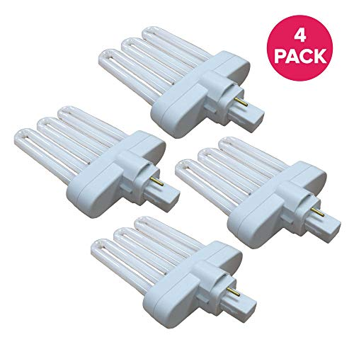 Think Crucial Replacement for Miracle-GRO B Grow Bulb Compatible with AeroGarden Part # 970904-0200,100340 & Models AeroGarden 3,3SL,3 Elite,6,7,Chef in A Box,Chef in A Box Elite (4 Pack)
