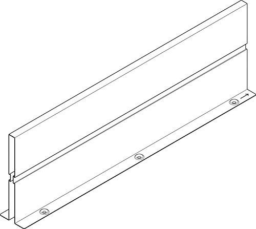 RONIN FURNITURE FITTINGS® BLUM ORGA-LINE Zwischenwand RAL 9006 weißaluminium H=151mm für TANDEMBOX plus+antaro NL 550mm Z46L520S