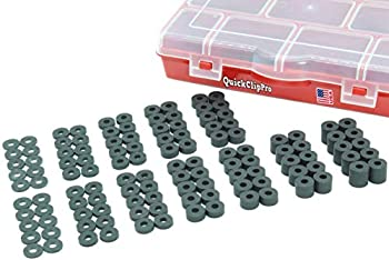 Quick Clip Pro Premium Black EPDM Rubber Washers/Spacers Assortment Kit for Kydex Gun Holsters + Knife Sheaths Made in USA 120pc  120PC