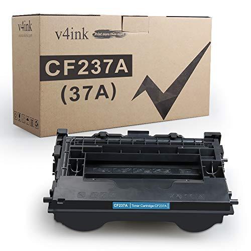 CF237A V4INK Compatible Toner Cartridge Replacement for HP 37A CF237A Toner Black for HP M607 M608 M609 M607n M607dn M608n M608dn M608x M609dn M631h M631dn M632h M632fht M632z M633fh Printer, 1 Pack