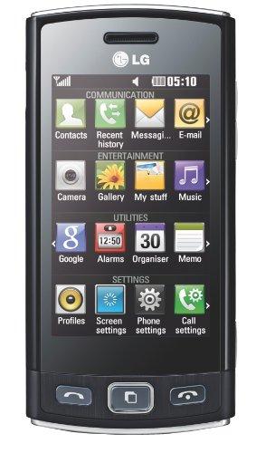 LG GM360 Viewty Smartphone (7.6 cm (3 Zoll) Bildschirm, Touchscreen, 5 Megapixel Kamera) Snap schwarz