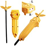 LR Sword Launcher for Beyblades Left and Right Turning Starter 2 in 1 Gold Launcher Handle Grip Games Accessories Sword Launcher for Gaming Tops Compatible with Takara Tomy Beybalde Burst Gift for Boy