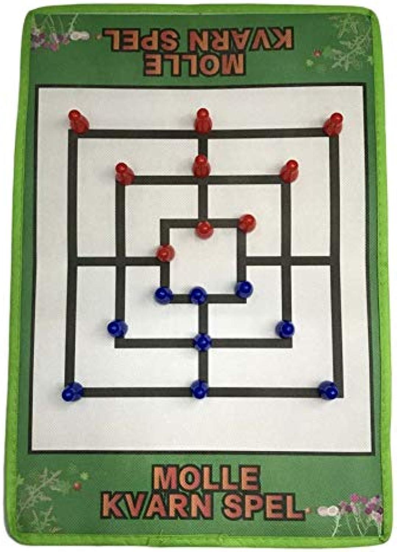 ventas de salida DEH Juego de ajedrez ajedrez ajedrez Internacional de Tela no Tejida Juego de ajedrez Morris de Nueve Hombres - Negro y verde  Envío y cambio gratis.