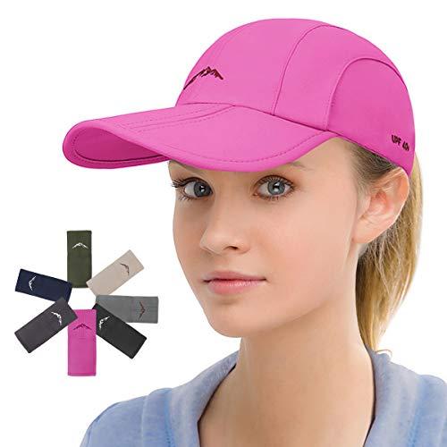 Sport Cap Summer Quick Drying Sun Hat UV Protection Outdoor Cap for Men, Women Pink