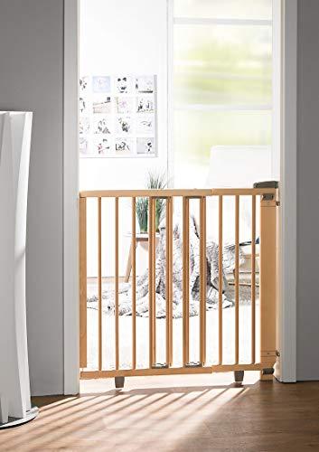 Geuther Türschutzgitter 2732+ - Türschutzgitter aus Holz in Natur Passung: 58 cm - 105 cm