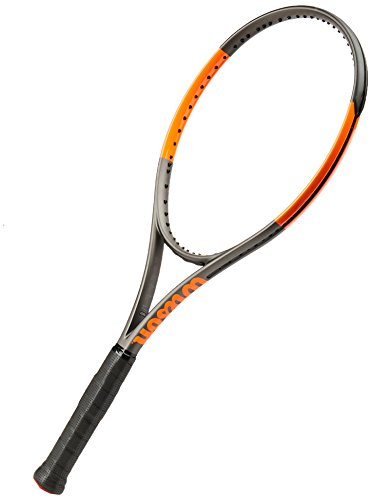 WILSON Burn 100 S CV TNS FRM W/O Tennisschläger, Unisex Erwachsene 35 schwarz/orange (Frozen Smoke/Power Orange)