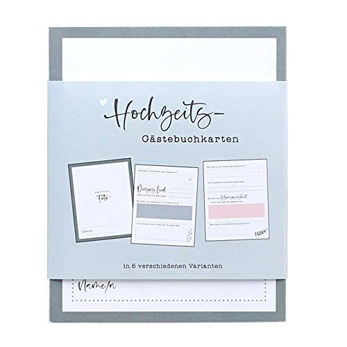Odernichtoderdoch Hochzeits-Gästebuchkarten'Unsere Gäste' - Karten für Gästebücher - 50 Seiten,...