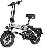 Bicicleta eléctrica de nieve, Adultos Electric Bike, Urban plegable de cercanías E-bike, Velocidad máxima 25 kilometros / h, 14 pulgadas súper ligero, 350W / 48V Carga de la batería de litio extraíble