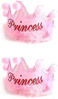 eDealMax la Fiesta de cumpleaños del hogar Eventos Forma de Corona Princesa Cap Carta Regalo de