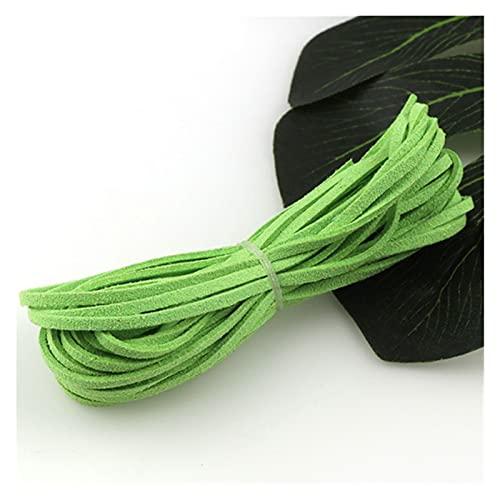 BOSAIYA PJ 20 Yardas 3 mm Flat Faux Gamuza cordón Trenzado Coreano de Cuero de Terciopelo Bricolaje Pulsera de Abalorios Hechos a Mano Joyas Que Hace Cuerda de Cuerda de Hilo TL811 (Color : 4)