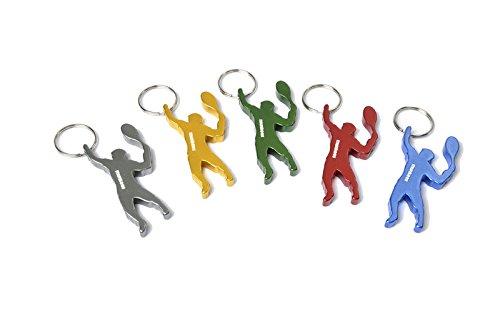 munkees Schlüsselanhänger Tennis-Figur Flaschenöffner, Sport-Fans, Überraschungsfarbe 3492