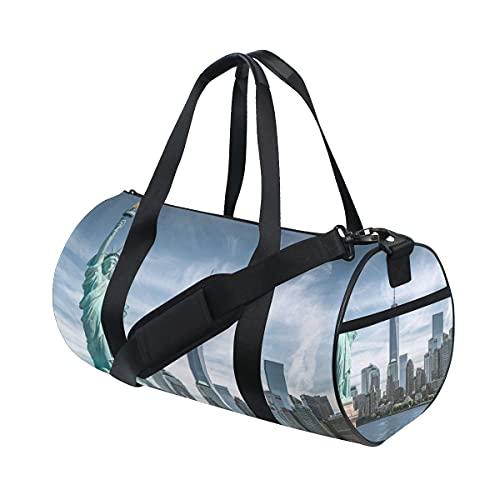 New York Statua della Libertà Sport Gym Bag per donne e uomini Viaggio Duffel BagSport Duffels Halloween Natale Regalo