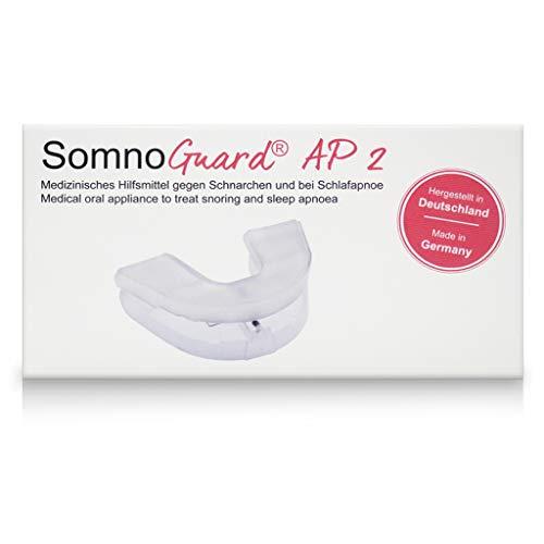 SomnoGuard AP2 erstklassige Anti-Schnarchschiene im FlexPoint Set mit Schlaftipp-ABC. Vorgefertigte zweiteilige Schiene gegen Schnarchen und nächtliche Atemaussetzer sowie bei Zähneknirschen