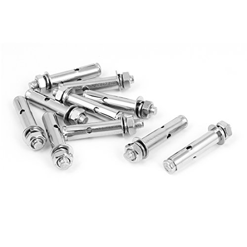 Stainless Steel Sleeve Anchors Expansion Screws Bolts M8x100mm 4 Pcs uxcell SYNCE005493