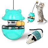 feihao Juguetes para Gatos Interactivos,Bola de Gato, Juguetes para Gatos Pelotas, Automático Dispensador de Comida para Gatos, 4 en 1 Bolas Educativas