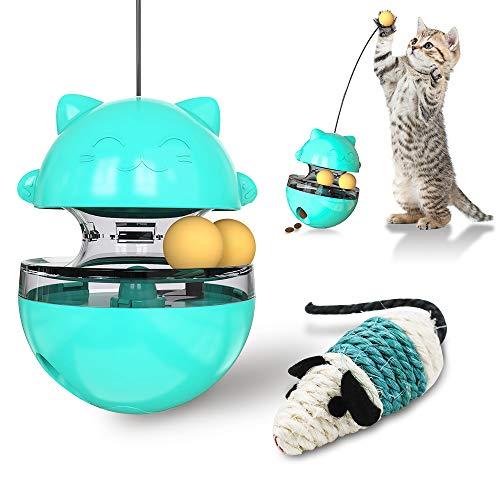 feihao Katzenspielzeug, Interaktives Spielzeug für Katzen, Futterball für Hunde und Katzen Tumbler Haustierfutter für Langsam Fütterung Training Nahrungsuche