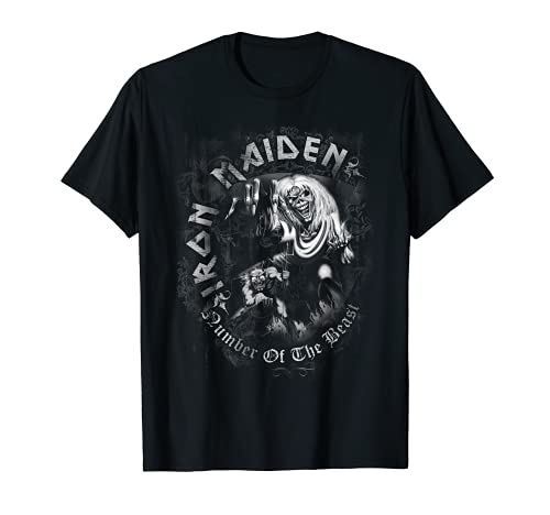 Iron Maiden - Number of the Beast Greyscale Tシャツ