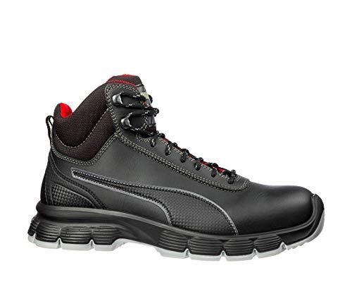 """Puma 630101-202-42""""Pioneer"""" Zapatos de seguridad, Mid S3, ESD SRC, talla 8, color negro"""