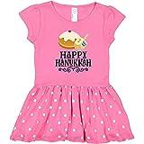 inktastic Happy Hanukkah Toddler Dress 4T Raspberry with Polka Dots 2d563
