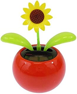 Acekid Solar Powered Dancing Flower Sunflower Office Desk & Car Decor