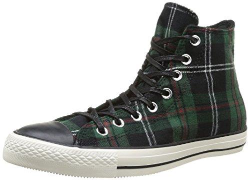 Converse, All Star Hi Textile, Sneaker, Unisex - Adulto, Multicolore (Green Tartan), 39