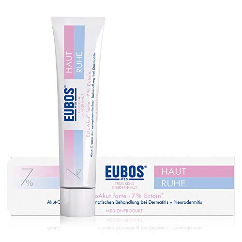 Eubos | HAUT RUHE EctoAkut forte 7% Ectoin | 30ml | für empfindliche und trockene Kinder- und Babyhaut | Wirksamkeit klinisch bestätigt | Medizinprodukt zur Intensivpflege für die schubfreie Zeit