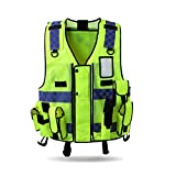 HYCOPROT Reflective Safety Security Vest, High Visibility Mesh Adjustable...