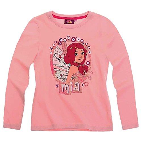 Mia and Me Langarmshirt Sweatshirt für Mädchen 3 Motive Flieder, rosa und weiß, Farbe:rosa, Größe:92
