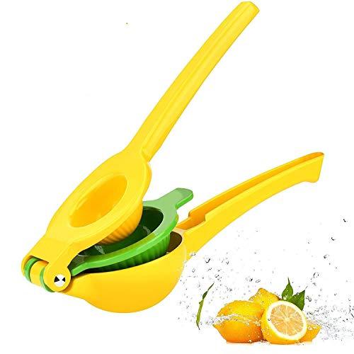 Exprimidor de Limón y Lima, Cuchara Manual de Aleación de Aluminio, Manual de Metal Resistente para Limones, Naranjas de Lima y Extracto de Todos los Jugos de Frutas (Yellow)