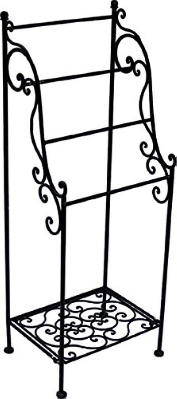 KUHEIGA Handtuchhalter Handtuchständer Rost - Braun H  109cm Handtuchhaken aus Metall B0171H5OQE