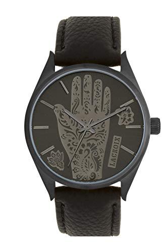 Christian Lacroix – Reloj para hombre de cuarzo, movimiento Miyota 2035, esfera 38 mm y correa de piel, 3 ATM