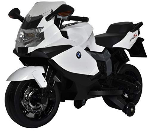 Moto ELÉCTRICA para NIÑOS BMW K1300S 12V Blanca