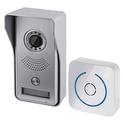 EMOS Video-Türklingel WLAN mit App-Steuerung / Wireless Video-Türsprechanlage mit Kameraeinheit, Klingel und App für Gegensprechfunktion, Bewegungserkennung