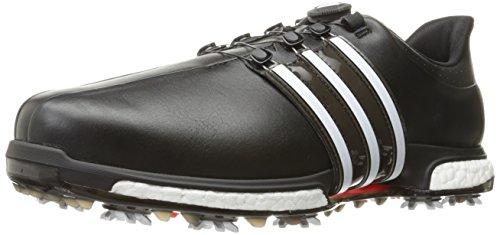 adidas Men's TOUR360 BOA Boost Golf Shoe, Core Black/FTWR White/Power Red, 14.5 UK