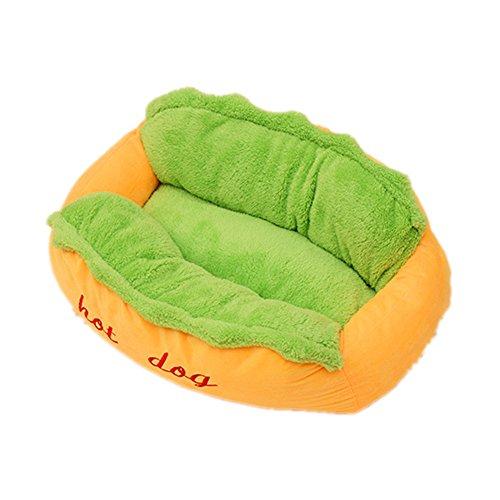 Hotdog Hundebett Katzenbett Baumwolle Pet Bett Kissen für Hunde Katzen Kleintiere (L)